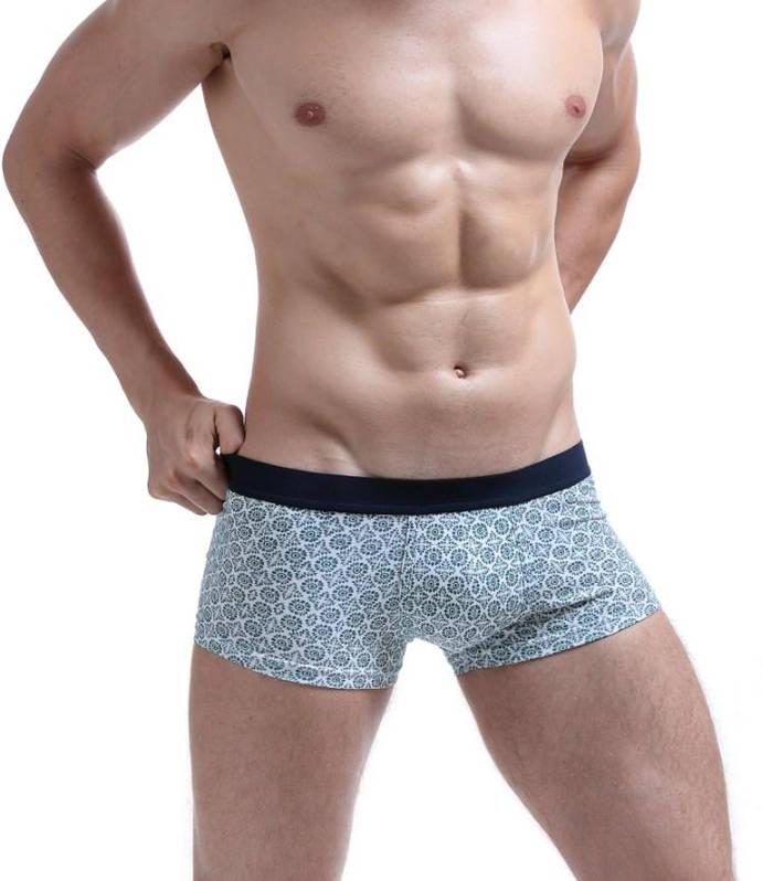 Классические серые мужские трусы-боксеры Seobean. Код: SB37