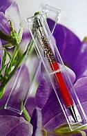 """Ручка шариковая """"Блестки цветные-красные"""" в пластиковой коробке В-504-R"""