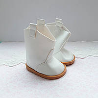 Обувь для кукол Сапожки 7.5*4 см БЕЛЫЕ