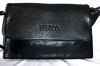 Женский черный клатч Toscco из искусственной кожи 28*17 см (3 отдела внутри), фото 1