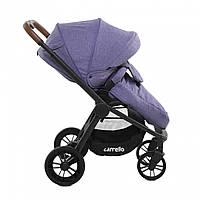 Детская прогулочная коляска фиолетовая CARRELLO Epica с дождевиком и  перекидным блоком 96a1d8b13c136