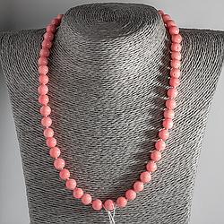 Рожевий корал, Ø8 мм, намисто, 115ОК