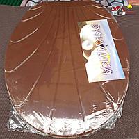 Сиденье на унитаз с крышкой Ракушка (коричневый), производитель Украина