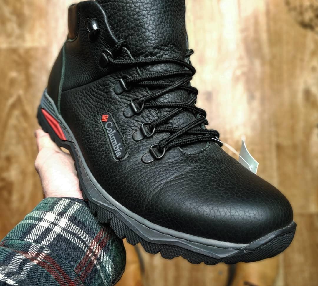 Зимние мужские ботинки Columbia черные кожаные реплика  продажа ... f9ee9dd8e82