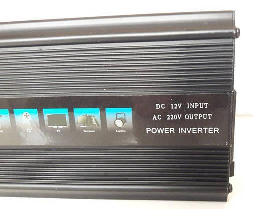 Преобразователь 1000w Инвертор с 12в на 220в, фото 3