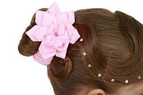 Резинка для волос розовая цветок для танцкв