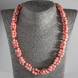 Рожевий корал, Ø6 мм, намисто, 116ОК