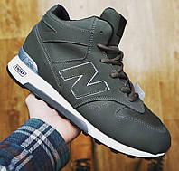 Зимние мужские ботинки кроссовки в стиле New Balance хаки