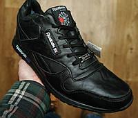 Зимние мужские ботинки кроссовки в стиле Reebok черные короткие