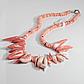 Коралл розовый, колье, 117ОК, фото 2
