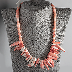 Рожевий корал, намисто, 117ОК