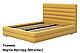 Ліжко двоспальне у м'якій оббивці Остін/ Кровать двуспальная в мягкой обивке Остин, фото 2