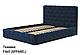 Ліжко двоспальне у м'якій оббивці Остін/ Кровать двуспальная в мягкой обивке Остин, фото 3