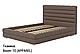 Ліжко двоспальне у м'якій оббивці Остін/ Кровать двуспальная в мягкой обивке Остин, фото 4
