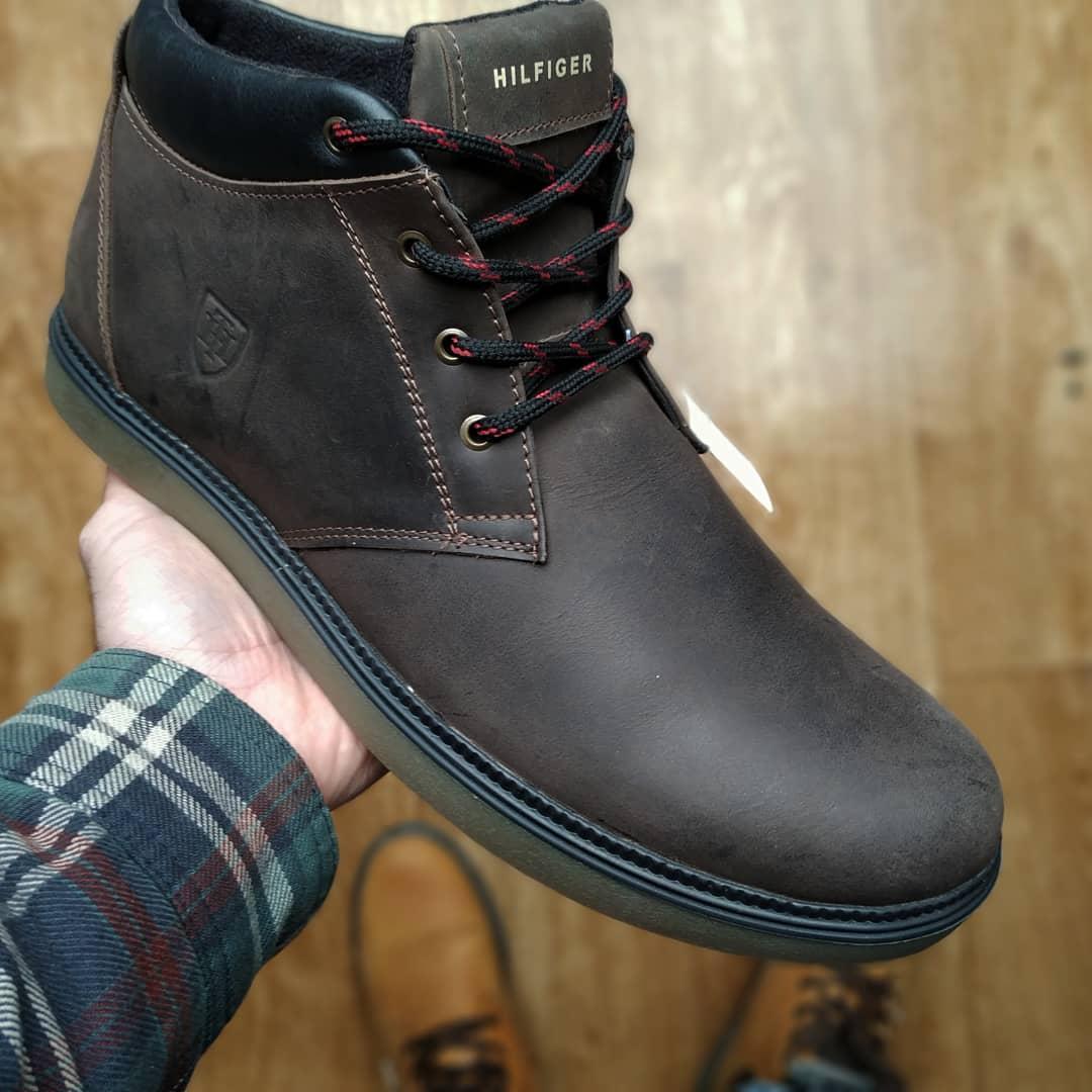 Зимние мужские ботинки нубук черные TH коричневые реплика  продажа ... 0bb7e2d4e3768