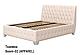 Ліжко двоспальне у м'якій оббивці Октавія / Кровать двуспальная в мягкой обивке Октавия, фото 2