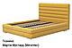 Ліжко двоспальне у м'якій оббивці Октавія / Кровать двуспальная в мягкой обивке Октавия, фото 5