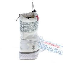 Женские белые сапожки - дутики BaaS, фото 2