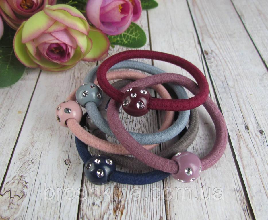 Резинки для волос цветные с пластиковыми шариками  d 5 см 100 шт/уп