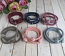 Резинки для волос цветные с пластиковыми шариками  d 5 см 100 шт/уп, фото 3