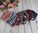 Резинки для волос цветные с пластиковыми шариками  d 5 см 100 шт/уп, фото 4