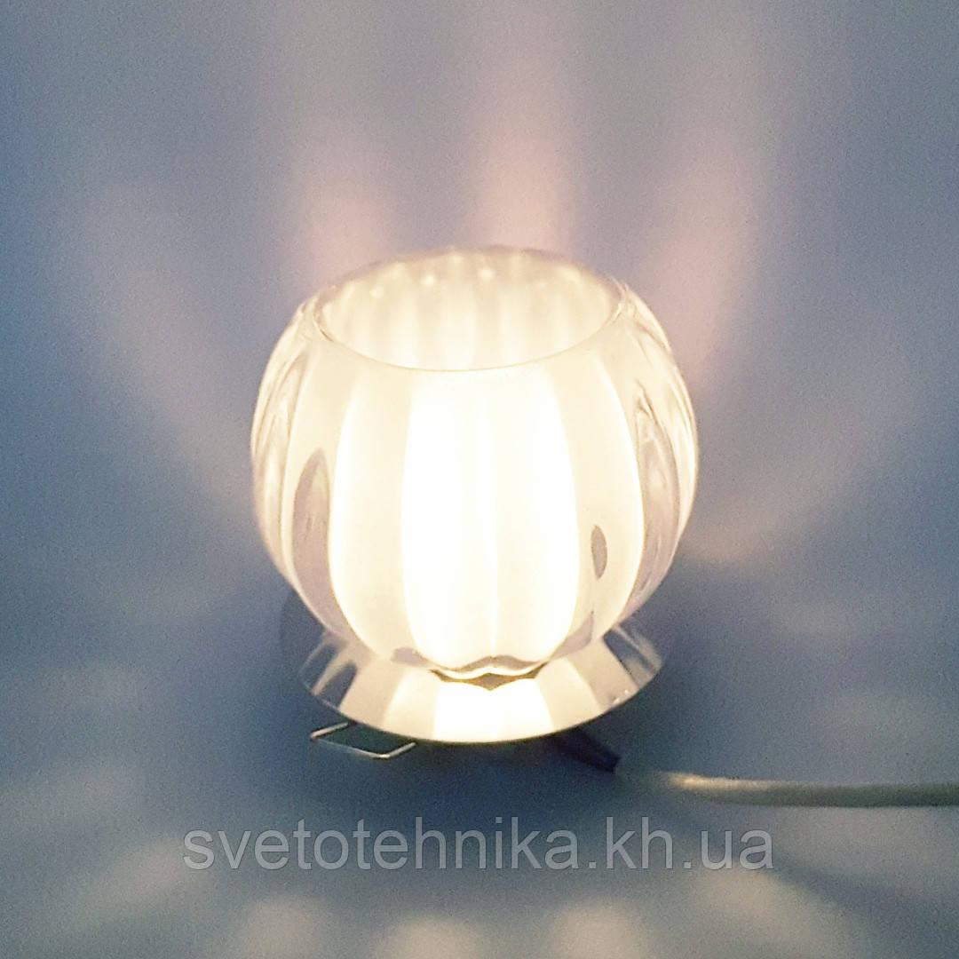 Встраиваемый декоративный точечный светильник с кристаллом Feron JD93  хром