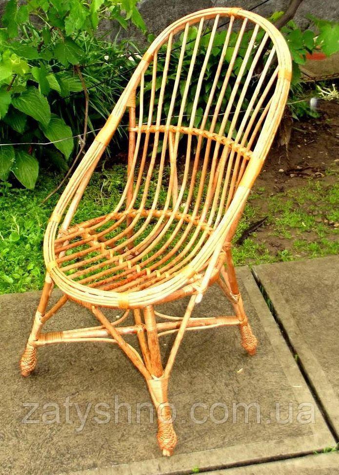 Балкоонное плетеное кресло из лозы