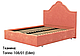 Ліжко двоспальне у м'якій оббивці Сесилія / Кровать двуспальная в мягкой обивке Сесилия, фото 5