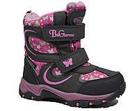 Детские зимние термоботинки для девочки, B&G-Termo розовый-серый, 26-27, фото 1