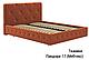 Ліжко двоспальне у м'якій оббивці Хлоя / Кровать двуспальная в мягкой обивке Хлоя, фото 5