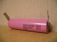Высокотоковый аккумулятор Samsung INR18650-30Q 3000mAh-15A с выводами под пайку U-tags