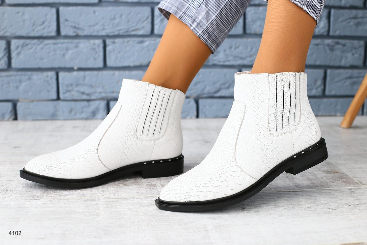 470e30449 Женские белые кожаные ботинки зима: продажа, цена в Чернигове ...