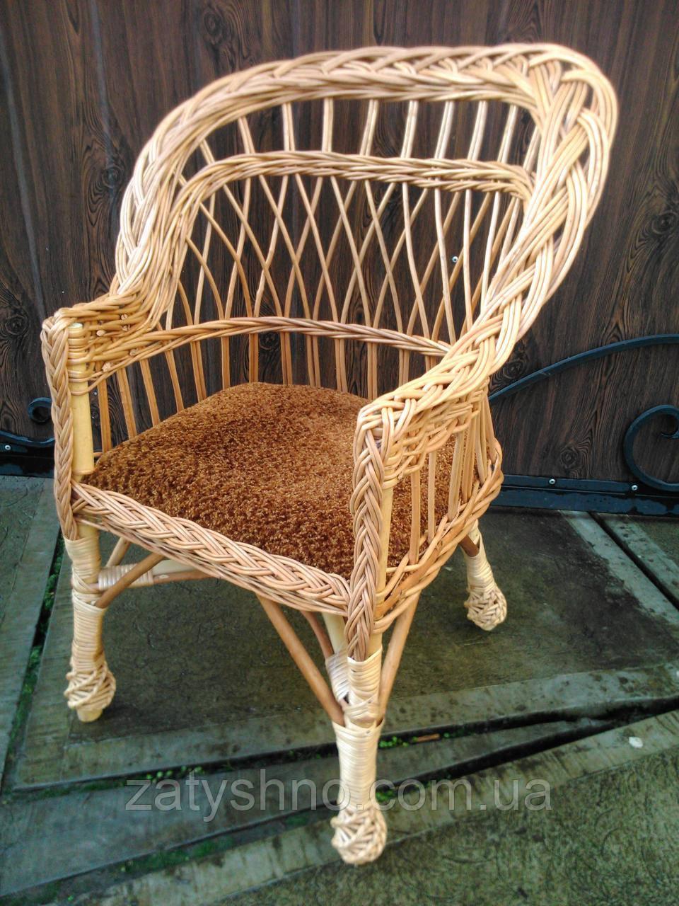 Кресло плетеное с мягкой сидушкой, детское