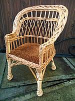 Кресло плетеное с мягкой сидушкой, детское, фото 1