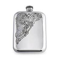 Подарочная фляга для алкоголя из олова ДРАКОН