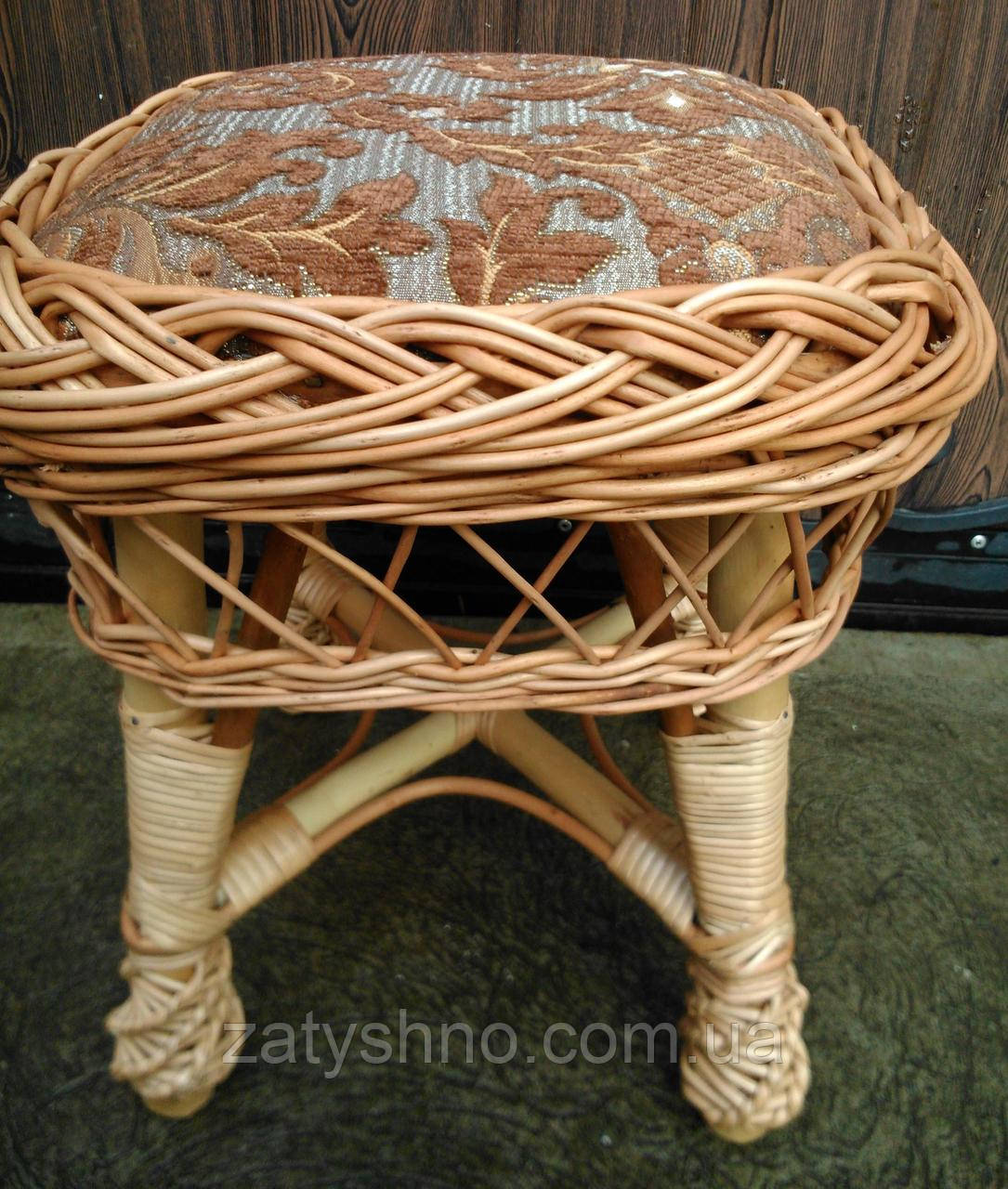 Табурет плетеный с мягкой частью