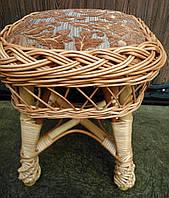 Табурет плетеный с мягкой частью, фото 1