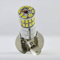 Светодиодная лампа в ПТФ SLP LED под цоколь H3  36 светодиодов типа  3014/ 9-30 В. Белый, фото 3