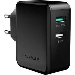 З/у сетевое RavPower Wall Charger Quck Charge 3.0 2xUSB 30W (RP-PC006BK)