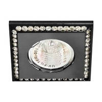 Светильник точечный декоративный FERON DL102 BK прозрачный-чёрный