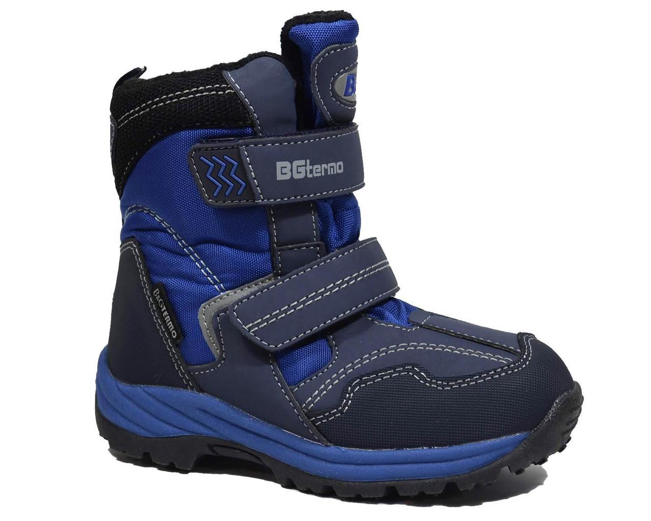 33963e88e Детские зимние термоботинки для мальчика, B&G-Termo синий, 28 -  Интернет-магазин