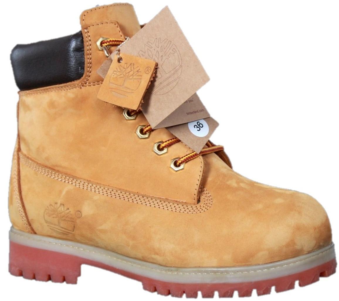 Зимние мужские ботинки Timberlan (Тимберленд, коричневые) внутри  натуральный мех - Магазин обуви Brand efc210dab08