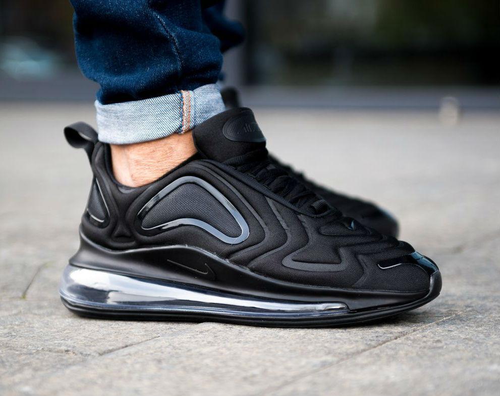 79aa3197 Nike Air Max 720 Triple Black | кроссовки мужские; полностью черные - BOOT  CLUB в