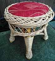 Круглый табурет с красным сиденьем, фото 1