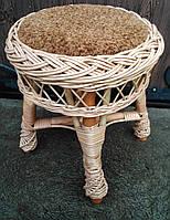 Табуретка с мягким сиденьем, плетеная, фото 1