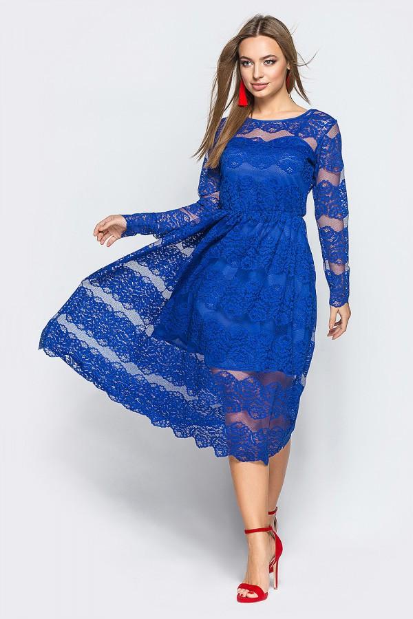 Роскошное женское гипюровое платье