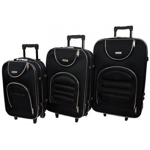 Чемодан Lux набор 3 штуки. Цвет черный.