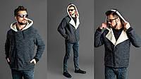 Мужской стильный худи на меху  РО1162, фото 1