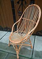 Кресло балконное плетеное с подлокотниками, фото 1