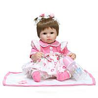 Кукла реборн Даша, мягконабивная 40 см, ручная работа Reborn doll